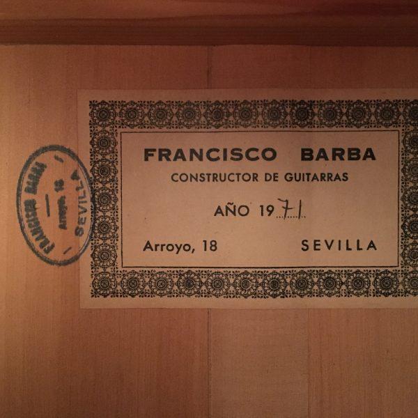 Francisco Barba 1971 cedro 2