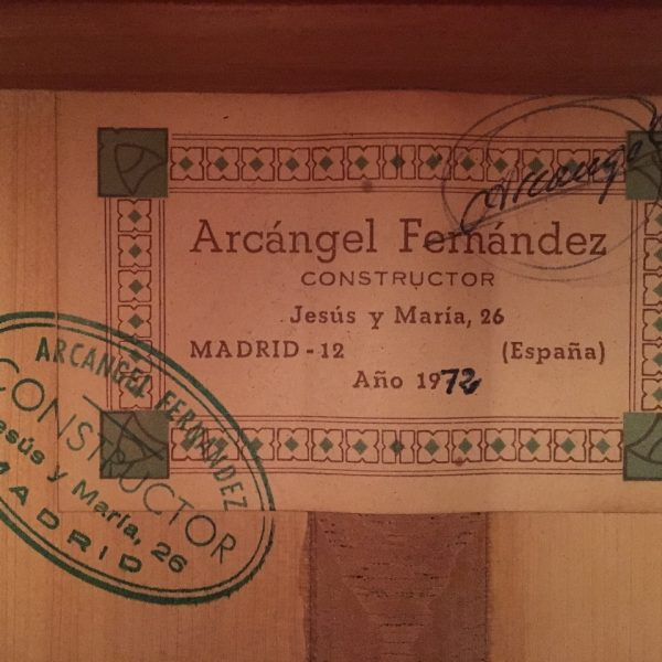 Arcangel Fernandez 1972 4
