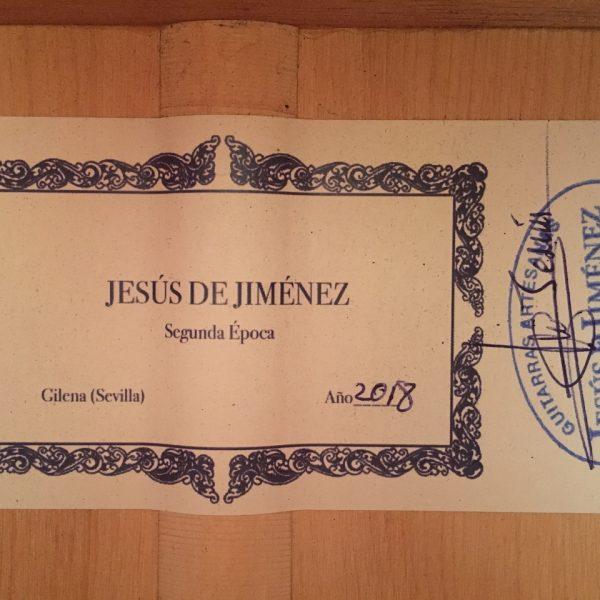Jesus de Jimenez 2018 roseta verde 3