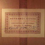 Etiqueta guitarra Hermanos Conde 1981